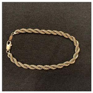 Vintage Silver Rope Bracelet